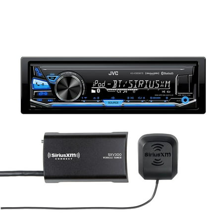 JVC KD-X330BTS In-Dash Digital Media Car Stereo w  Pandora, iPhone connectivity w  included SiriusXM Tuner by