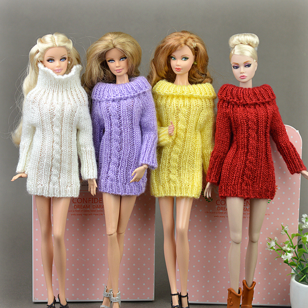 30cm Fashion Knitted Handmade Sweater Clothing for Dolls Style:white - image 3 of 6
