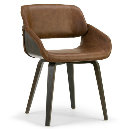 Terrific Amal Brown Upholstered Dining Chair With Grey Wood Accent And Bentwood Legs Uwap Interior Chair Design Uwaporg