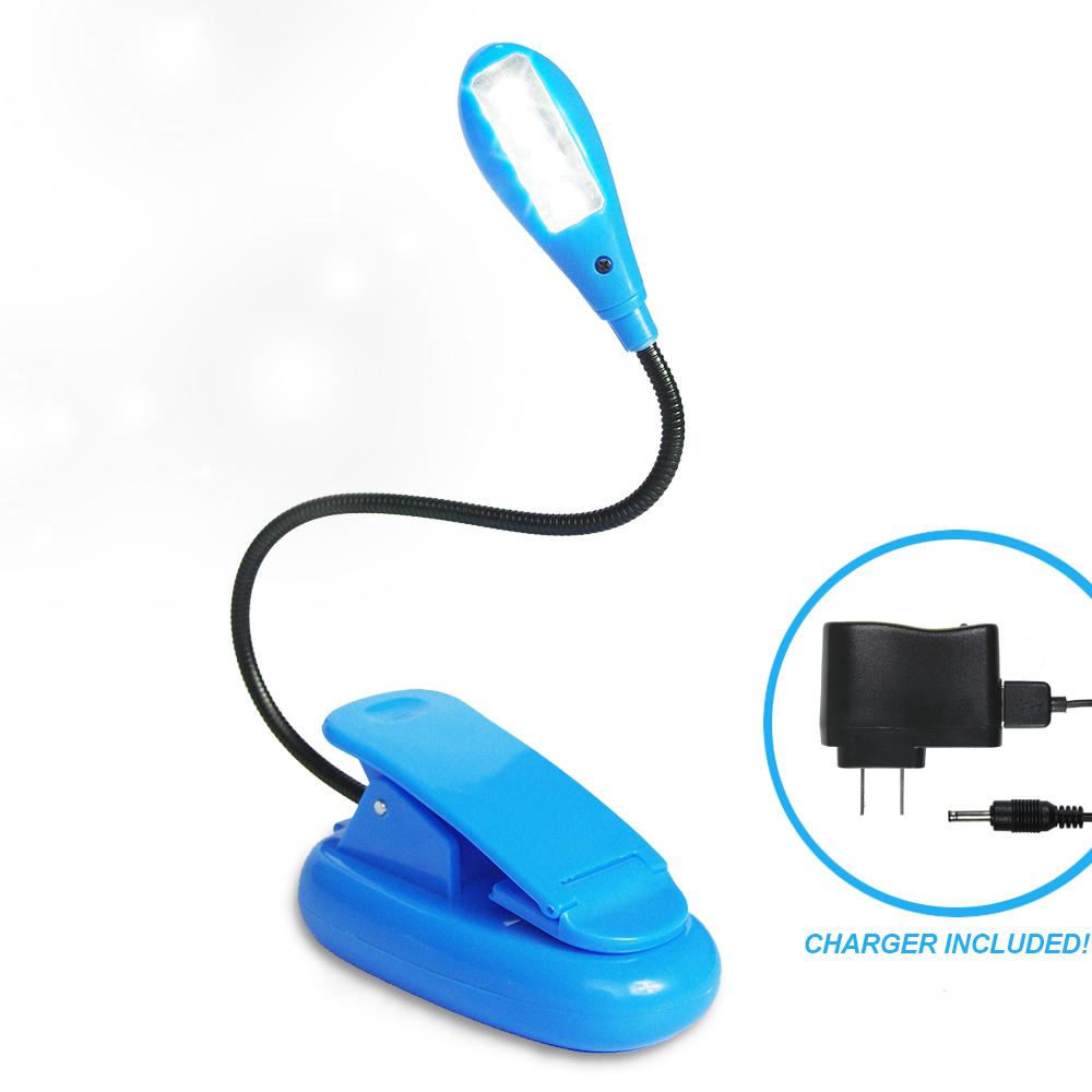 eTopLighting Computer Desk Clip On Gooseneck 4-LED Book Light Multifunctional Lamp, Blue , WMLS2443 by Loadstone Studio