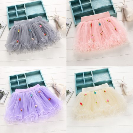 Kacakid Lovely Kids Girls Flower Tutu Skirt Party Ball Gown Princess Lace Mini - Flower Girl Balls