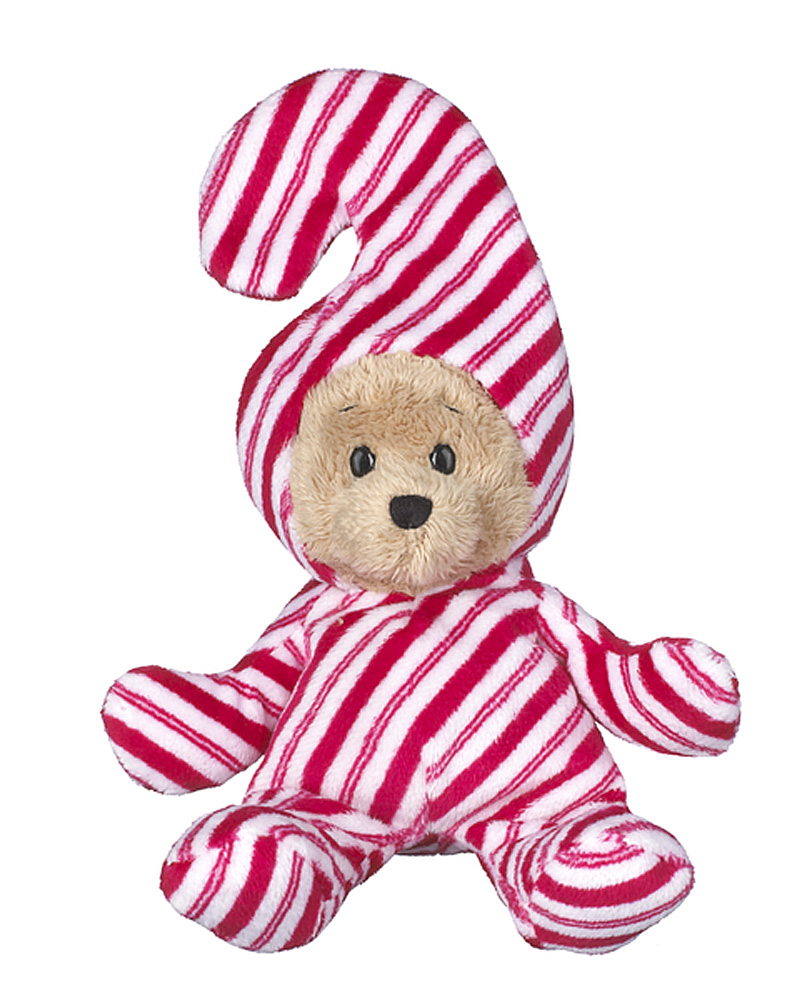Wee Bears Costumed Teddy Bear: Candy Cane By Ganz by