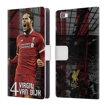 OFFICIAL LIVERPOOL FOOTBALL CLUB 2017/18 FIRST TEAM 1 LEATHER BOOK WALLET CASE COVER FOR HUAWEI PHONES 2
