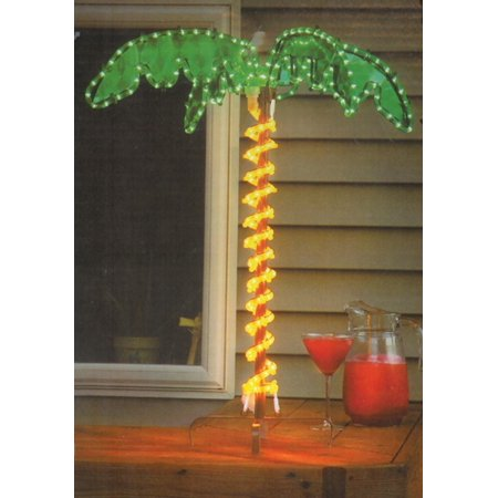 30 Tropical Lighted Holographic Rope Light Outdoor Palm Tree Yard Decoration
