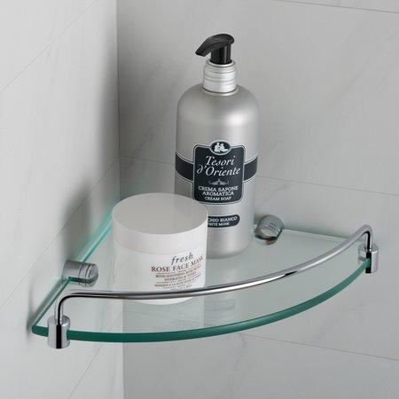 - KRAUS Elie™ Corner Bathroom Shelf, Chrome Finish