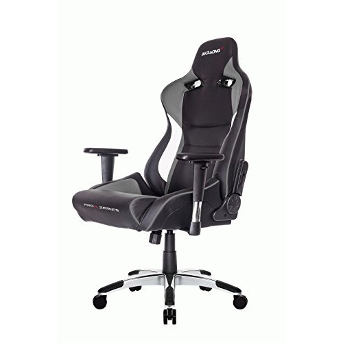 Image of ERGONOMIC GAMING CHAIR GREY ADJ ARMS ND HEIGHT RECLINE PLEATHER