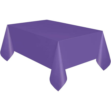 Neon Purple Plastic Party Tablecloth, 108 x 54in