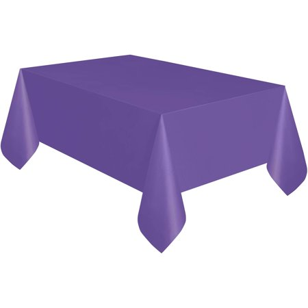 Neon Purple Plastic Party Tablecloth, 108 x 54in (Party Table Cloths)