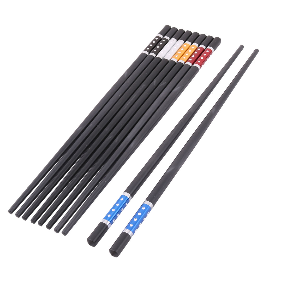 Restaurant Wood Chinese Style Dishes Sushi Fish Chopstick Assorted Color 5 Pairs