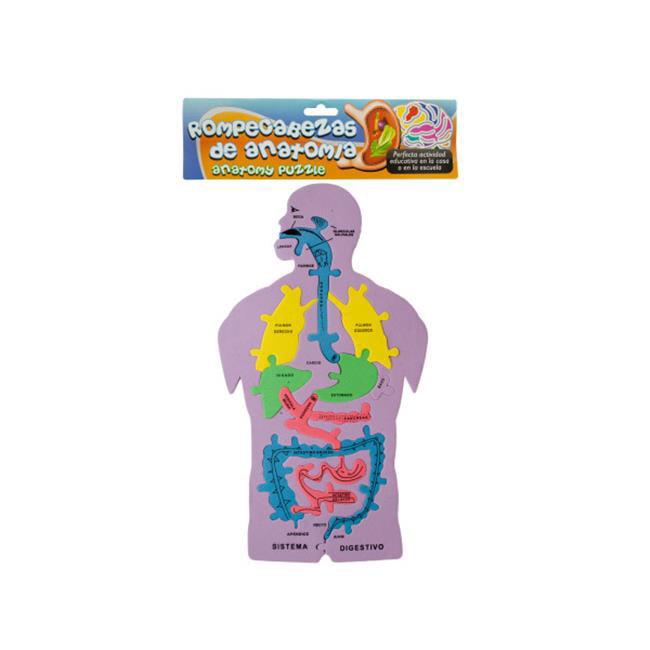 Bulk Buys SP003-48 Spanish Anatomy Foam Puzzle by