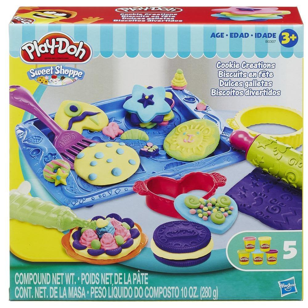 Play-Doh Sweet Shoppe Cookie Creations Food Set with 5 Cans of Dough