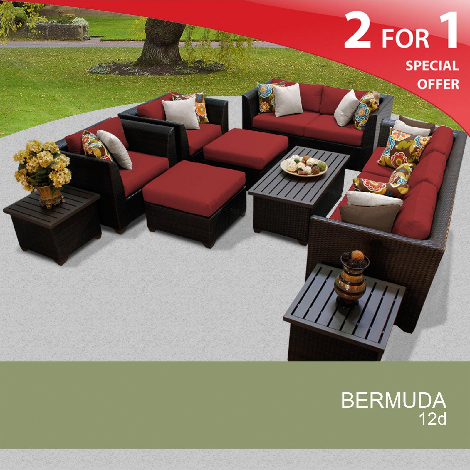 12 Piece Outdoor Wicker Patio Furniture