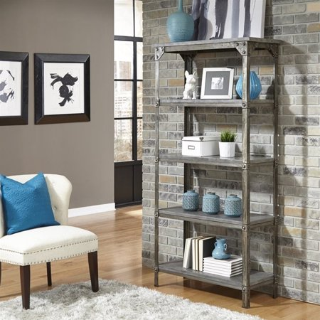 Home Styles Urban Style 5 Shelf Bookcase in Aged Metal - image 2 de 2