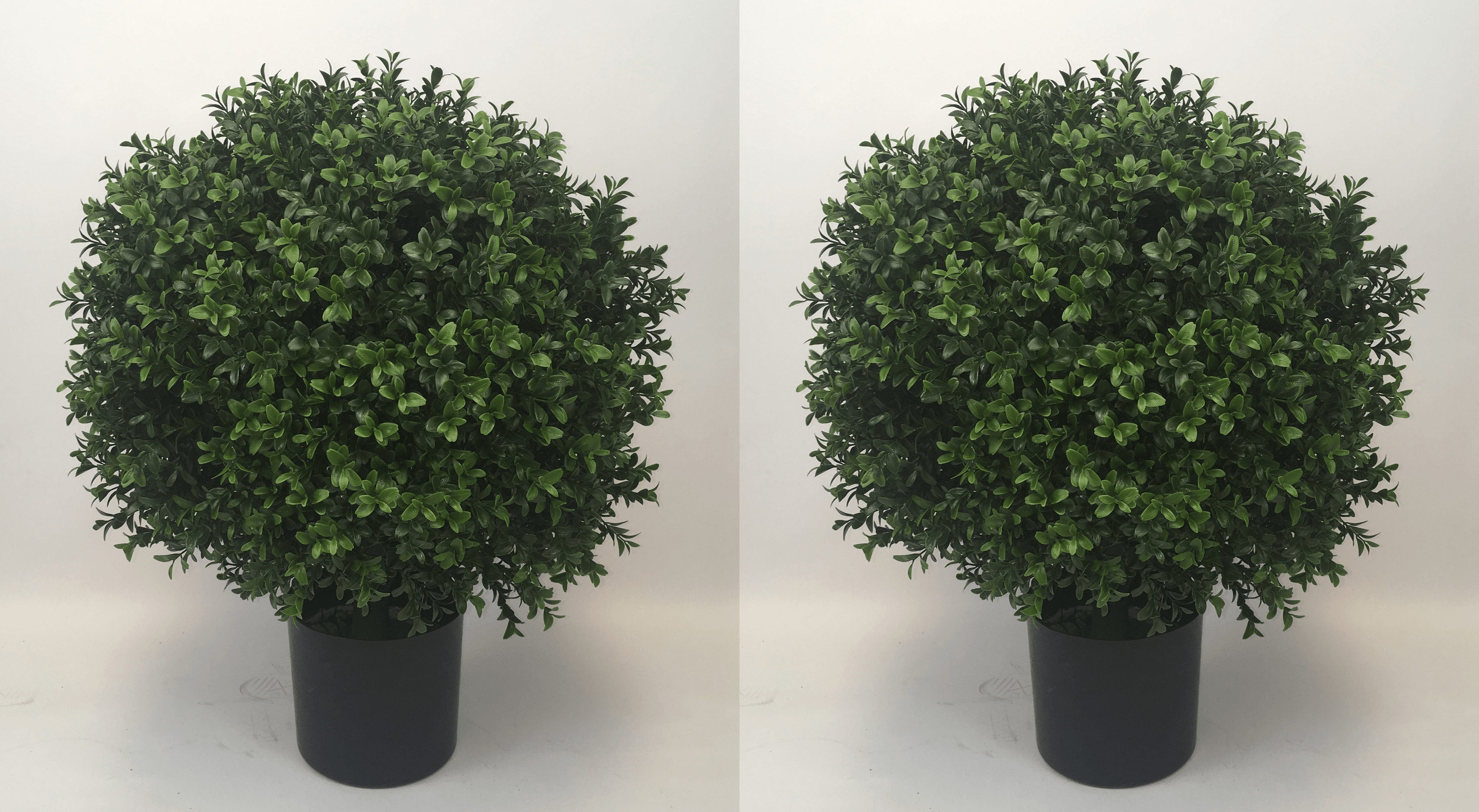 One Outdoor Over 2 Foot Tall 26 by 18 Artificial Boxwood Ball Topiary Bush Potted Tree UV Rated