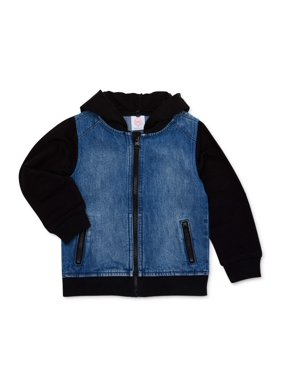 Wonder Nation Toddler Boys Denim Hooded Jacket (Sizes 2T-5T)