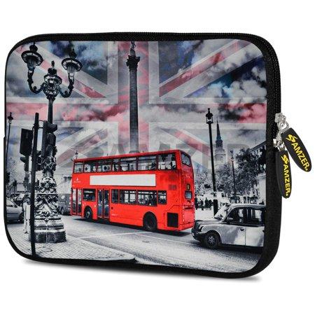 Designer 7.75 Inch Soft Neoprene Sleeve Case Pouch for Samsung Galaxy Tab A 7.0 2016, Samsung Galaxy J Max, Samsung Galaxy Tab 3 Lite 7.0, Samsung Galaxy Tab 4 7.0 - London Red Bus (Designer Outlet London)