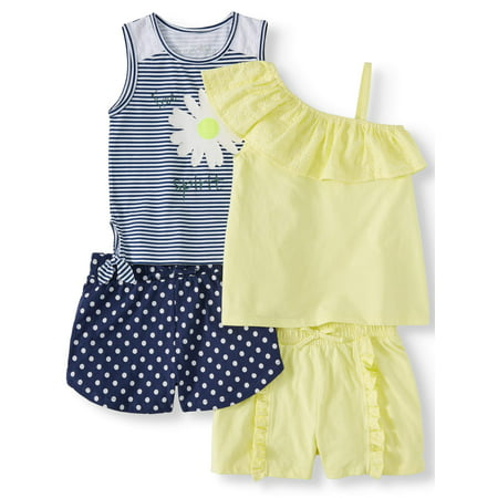 Free Spirit Mix and Match, 4-Piece Outfit Set (Little Girls & Big - Girl 4 Piece Set