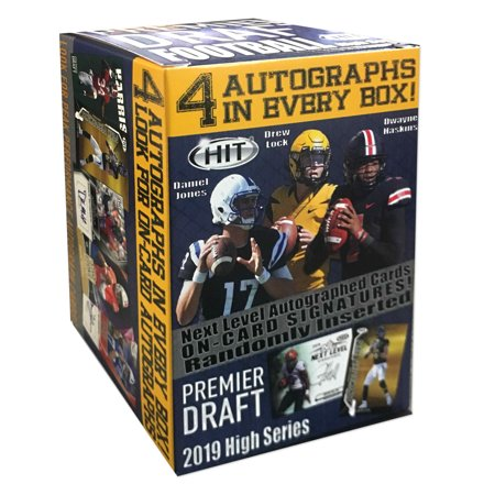 2019 Sage High Draft Picks Football Blaster Box- 80 Trading Cards | 4 Autographs per - 1999 Victory Autographed Card