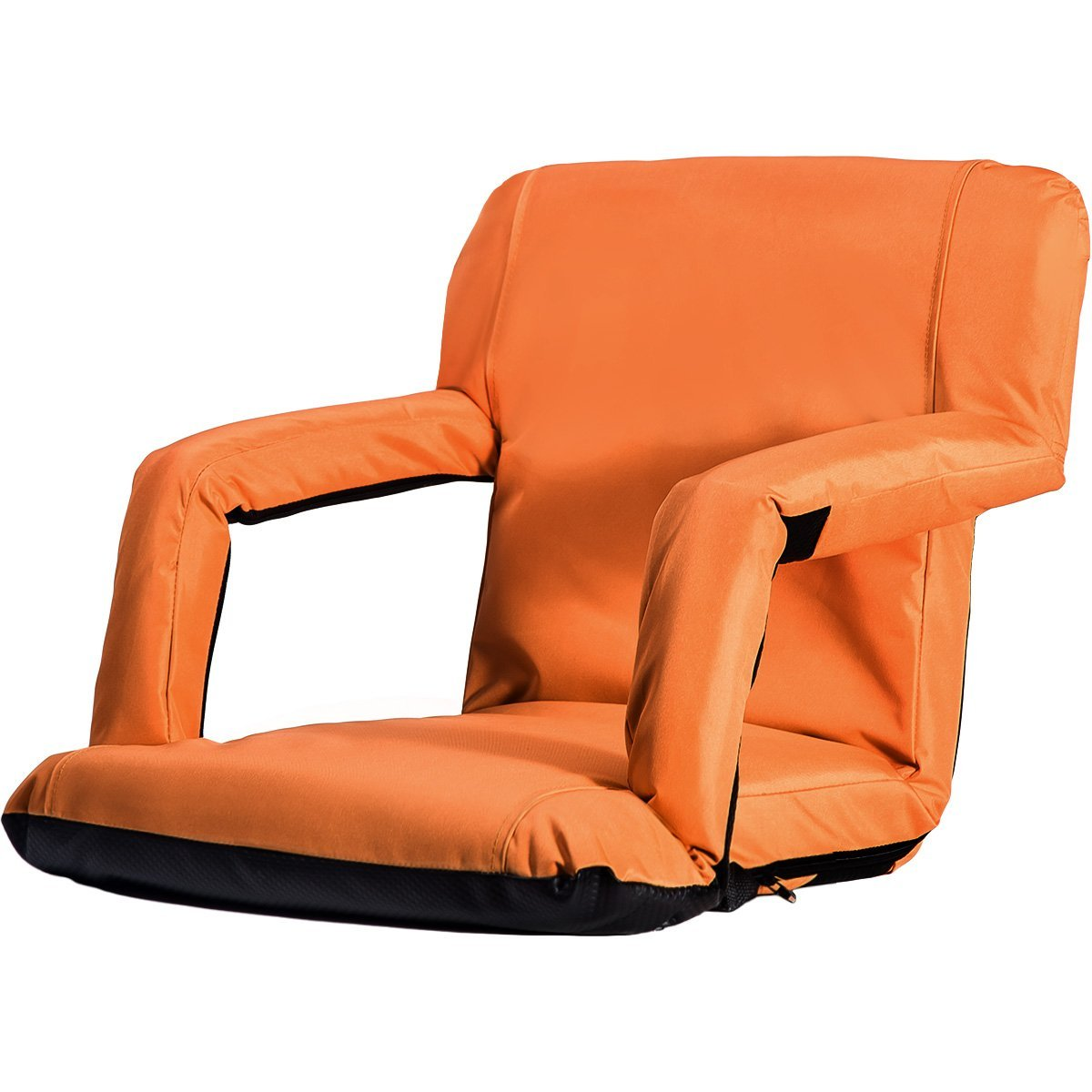 Merax Reclining Stadium Seat Chair Bleacher Chair Portable Reclining Seat Folding with Armrest by Merax