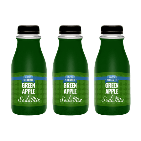 - Ralph's Green Apple Sparkling Water Sodamix Flavor | Three 12oz Bottles