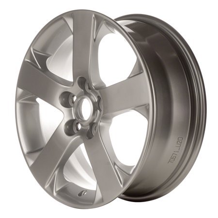Aftermarket 2006-2007 Mazda 5  17x6.5 Alloy Wheel, Rim Bright Sparkle Silver Full Face Painted - 64881 (Rims Mazda)