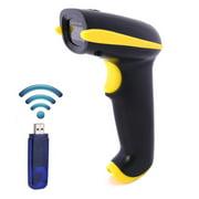 axGear Portable sans fil portatif du scanner 2.4G de code barres de laser avec le récepteur