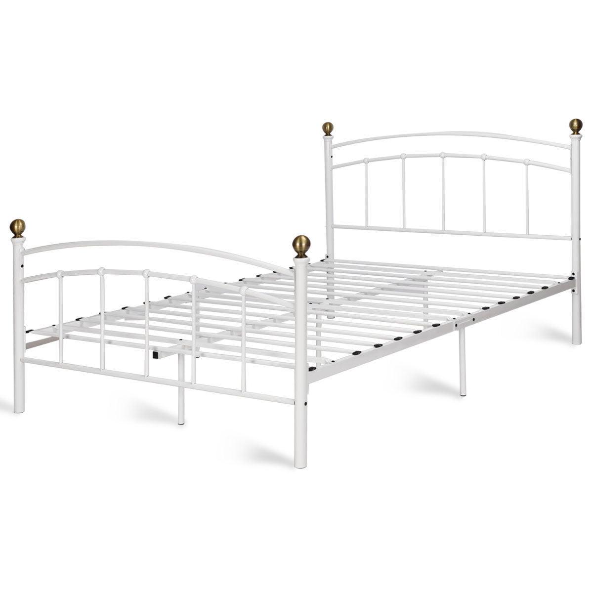 """12"""" Full Size Metal Bed Frame Platform Slat Support Headboard Footboard - image 3 de 10"""