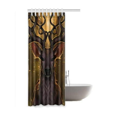 RYLABLUE Deer Waterproof Polyester Bathroom Shower Curtain 48x72 Inches - image 2 de 2