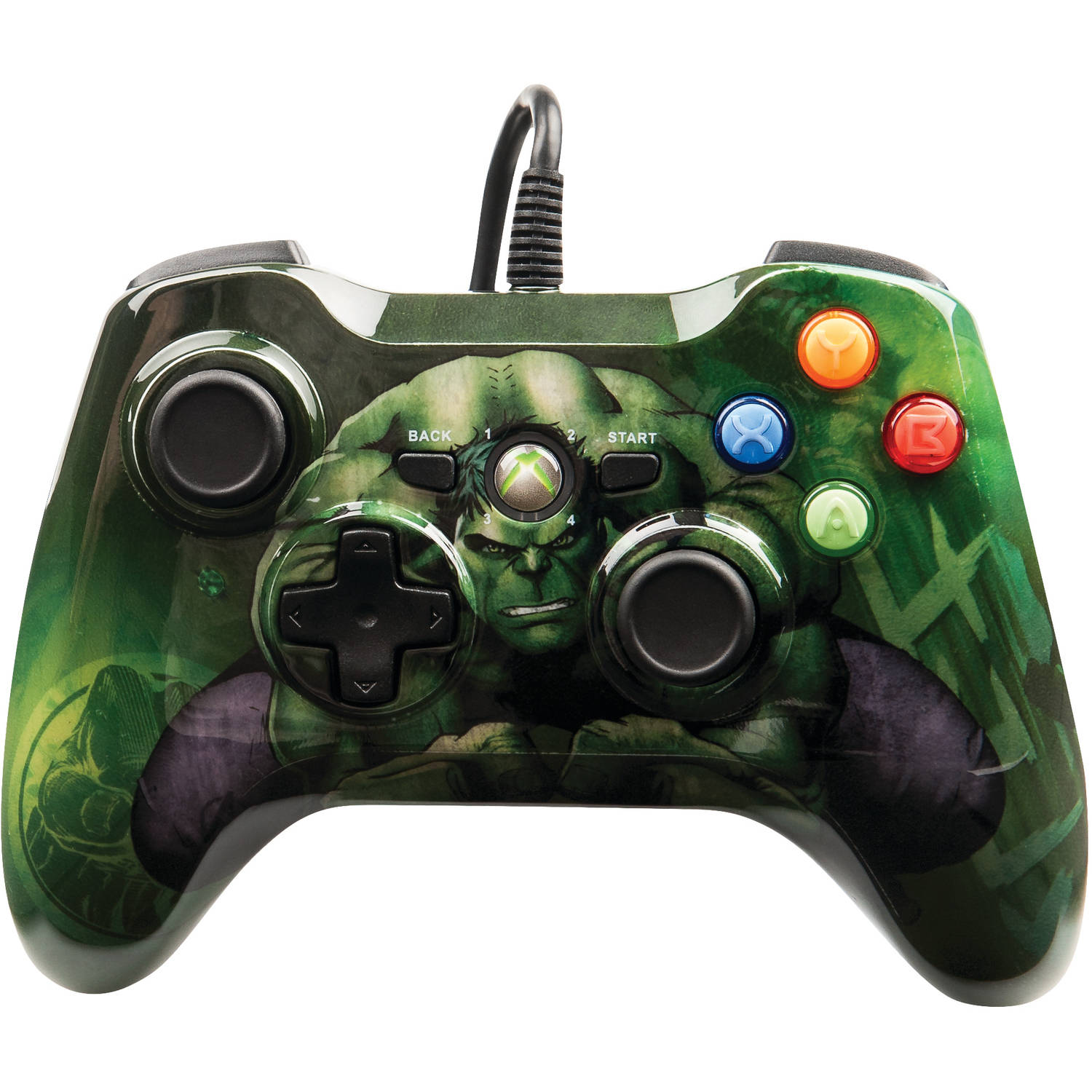 Xbox 360 Wired Marvel Hulk Controller