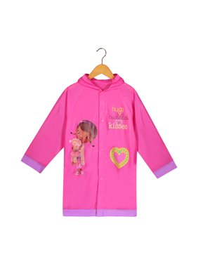 Disney Doc McStuffins Girls Pink Rain Slicker Raincoat - Age 6-7