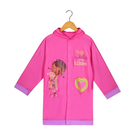 Disney Doc McStuffins Girls Pink Rain Slicker Raincoat - Age (Best Waterproof Jacket Brands)