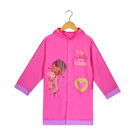 Disney Doc McStuffins Girls Pink Rain Slicker Raincoat - Age - Raincoat Rain Slicker