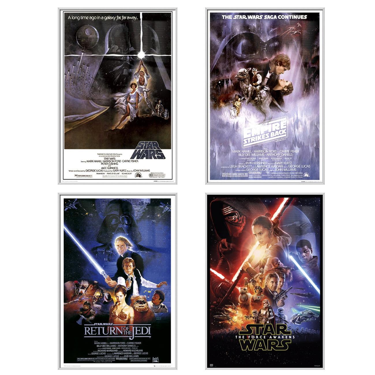 "Star Wars: Episode IV, V, VI & VII - 4 Piece Movie Poster / Print Set (Regular Styles) (Size: 24"" x 36"" each)"