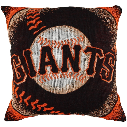 "San Francisco Giants The Northwest Company 20""x20"" Woven Pillow - Black - No Size"