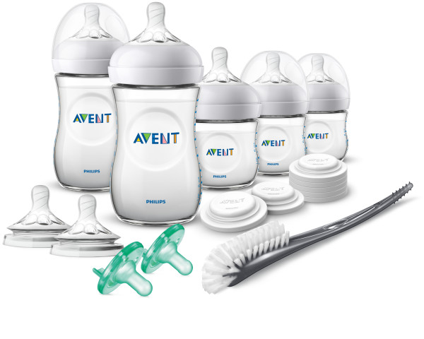 Philips Avent Natural Baby Bottle Newborn Starter Gift Set, SCD206 03 by Philips AVENT