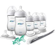 Philips Avent Natural Baby Bottle Newborn Starter Gift Set, Clear, Unisex, SCD206/03