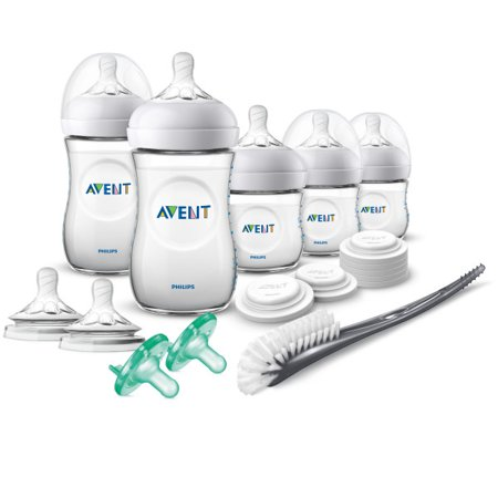 Avent Newborn Bottles (Philips Avent Natural Baby Bottle Newborn Starter Gift Set,)