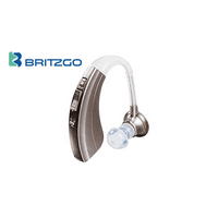 "Britzgo Hearing Aid Amplifier BHA-220, 500hr Battery Life, ""FDA Approved"", Silver"