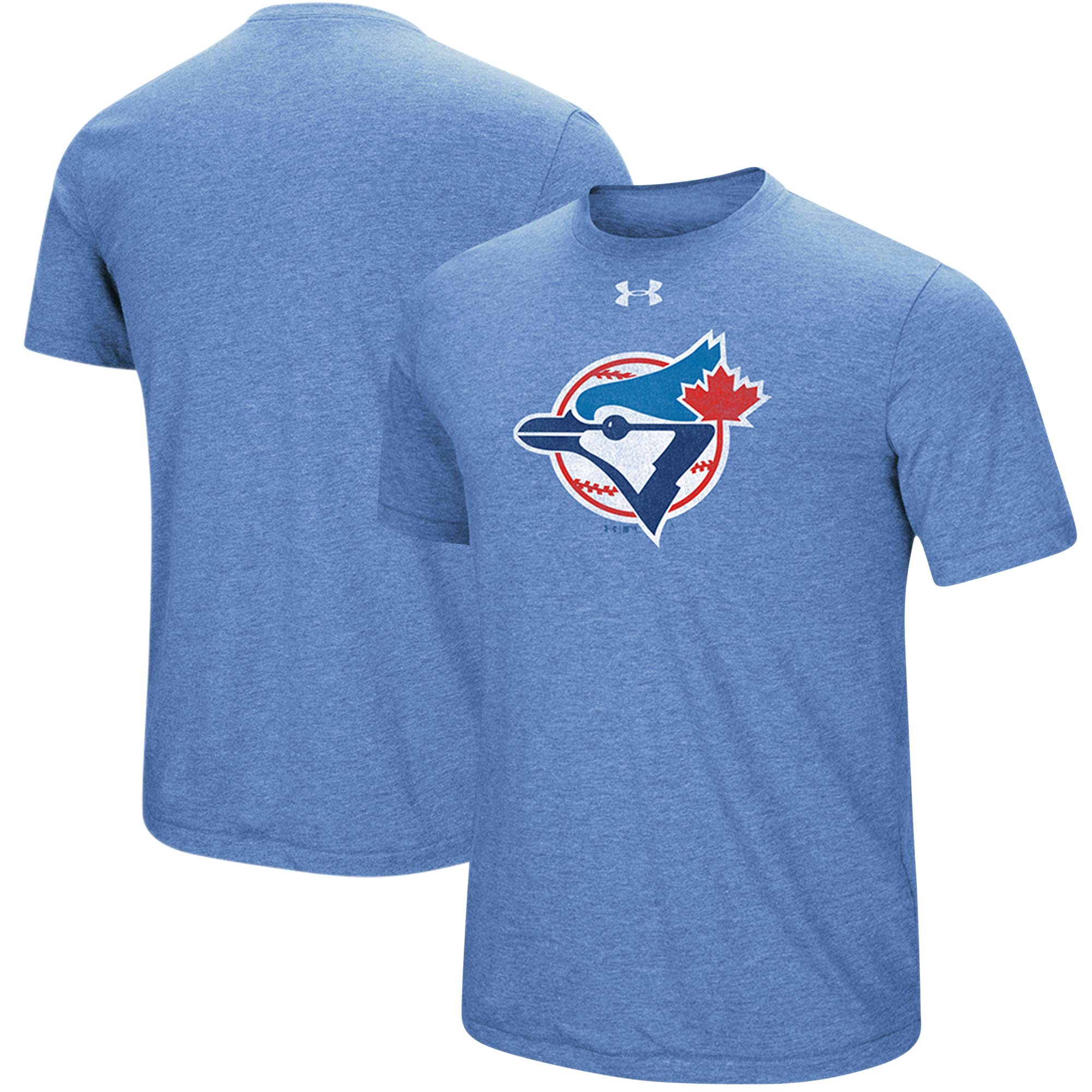 Toronto Blue Jays Under Armour Cooperstown Collection Mark Performance Tri-Blend T-Shirt - Heathered Royal