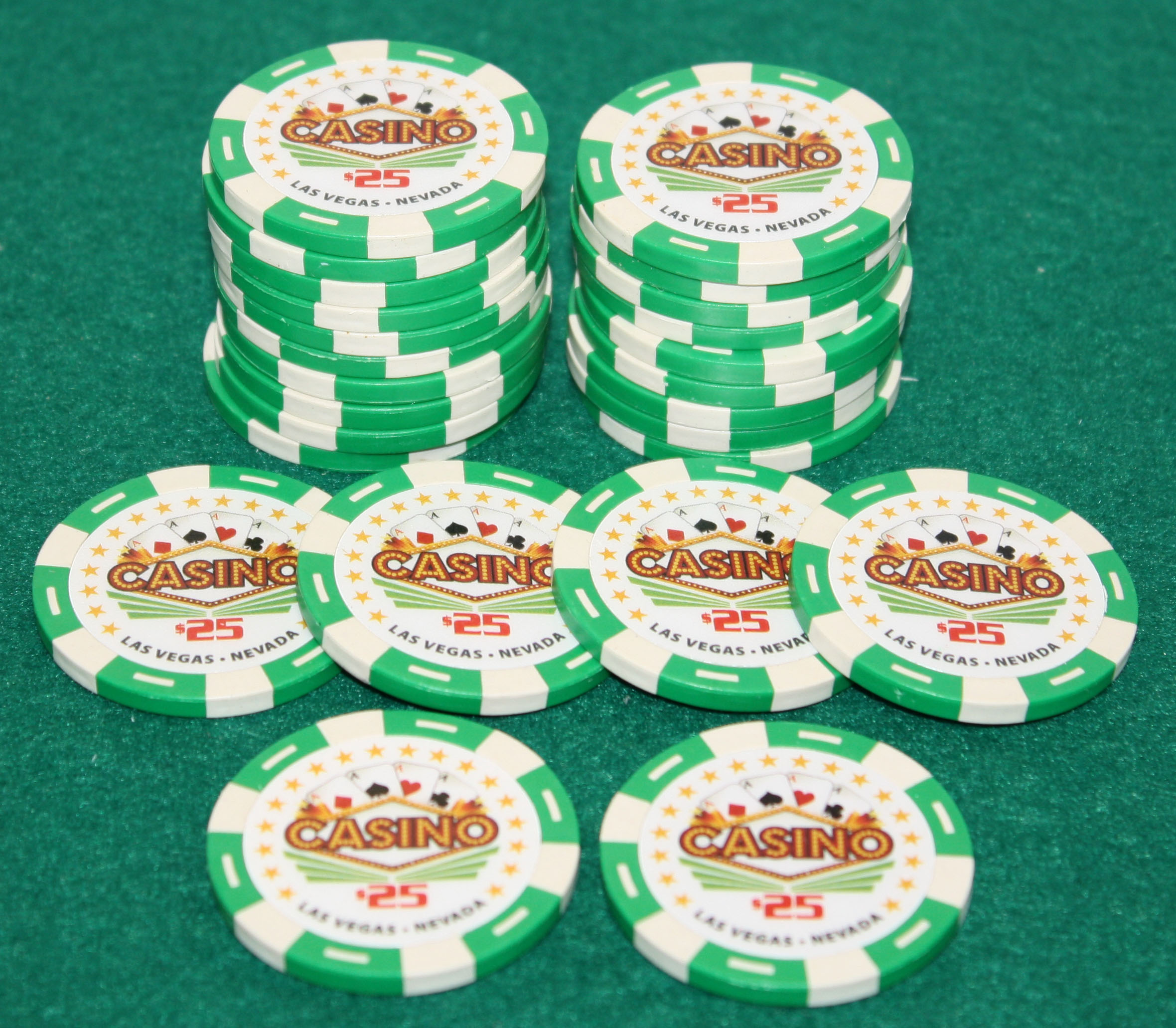 $25 Pro Vegas Casino Chips *Super High Quality* Poker Chip 11.5 Grams (QTY: 25) by