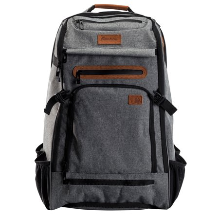 Franklin Sports MLB Traveler Elite Baseball Backpack – Premium Batpack – Heather Gray