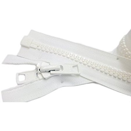 Zipperstop Wholesale YKK® Bimini Top #10 White Marine Double Pull Zipper 108
