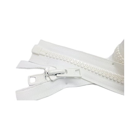 Head Zipper Pull - Zipperstop Wholesale YKK® Bimini Top #10 White Marine Double Pull Zipper 84