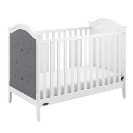 Graco Linden Upholstered 3 in 1 Convertible Crib White/Gray (Graco Crib Screws)