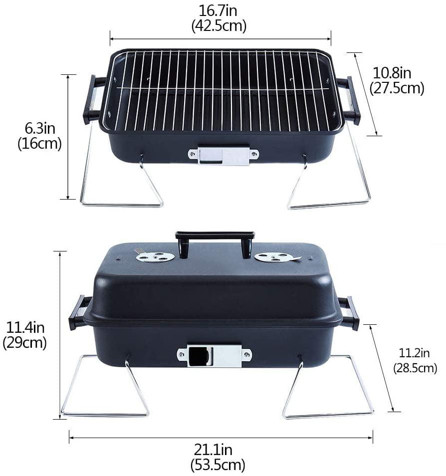 Charcoal Grills BBQ Grill Folding Portable Lightweight smoker ...