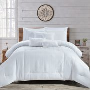 HGMart Bedding Comforter Set Bed In A Bag - 7 Piece Luxury Microfiber Bedding Sets - Oversized Bedroom Comforters, King/Cal King Size, White