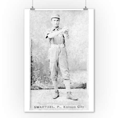 Kansas City Cowboys - Park Swartzel - Baseball Card (9x12 Art Print, Wall Decor Travel Poster)](Party City Overland Park Kansas)