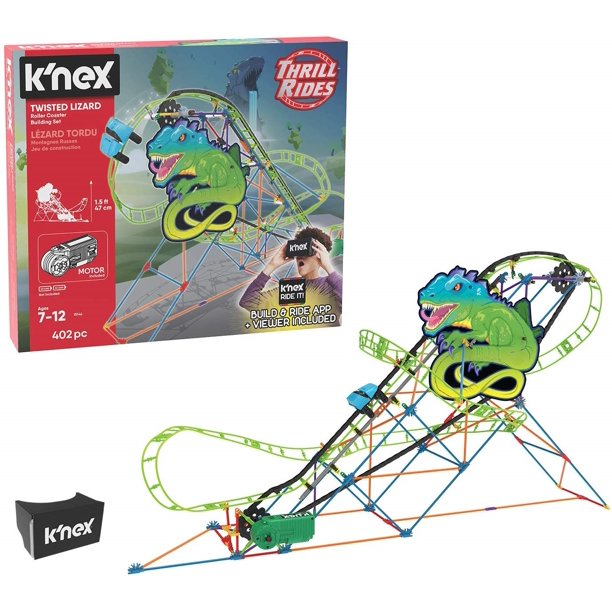 K Nex Thrill Rides Twisted Lizard Roller Coaster Building Set With Ride It App Ages Classic Thrill Rides New Open Box Walmart Com Walmart Com