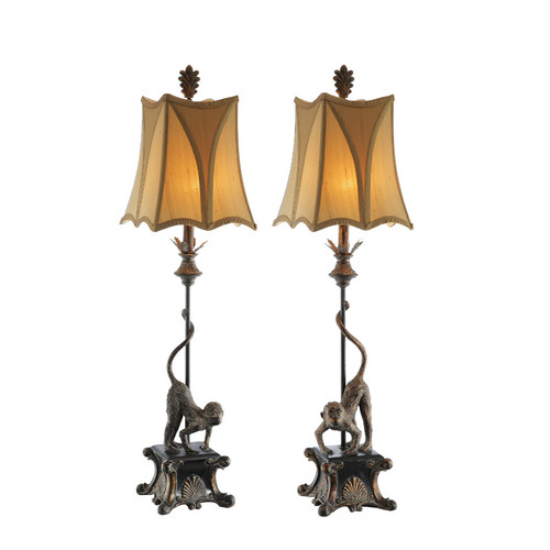 Amita Trading 38'' H Table Lamp with Bell Shade (Set of 2)