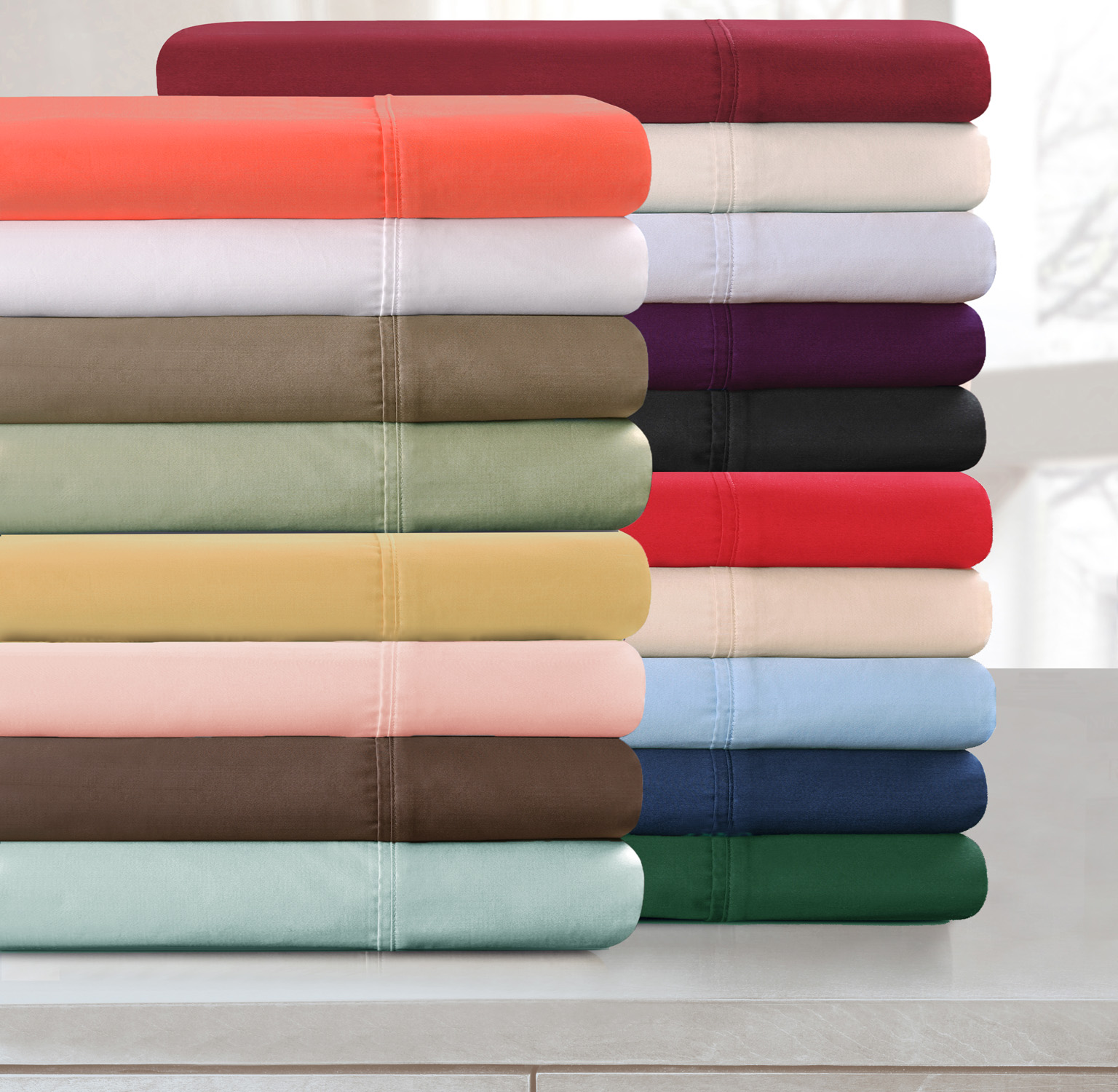 Impressions 300tc Egyptian Cotton Solid Sheet Set